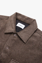 Load image into Gallery viewer, Woodbird Glixto Wool Shirt Shirts Brown