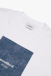 Woodbird Kamo Boxprint Tee T-Shirts White