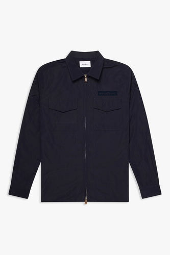 Woodbird Klarc Zip Shirt Shirts Navy