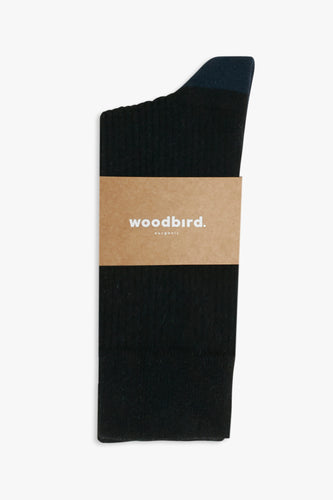 Woodbird Our Dress Socks Accessories Black