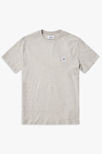 Woodbird Our Jarvis Patch Snow Tee T-Shirts Snow Melange