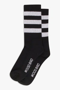 Woodbird Our Tennis Socks Accessories Black-White