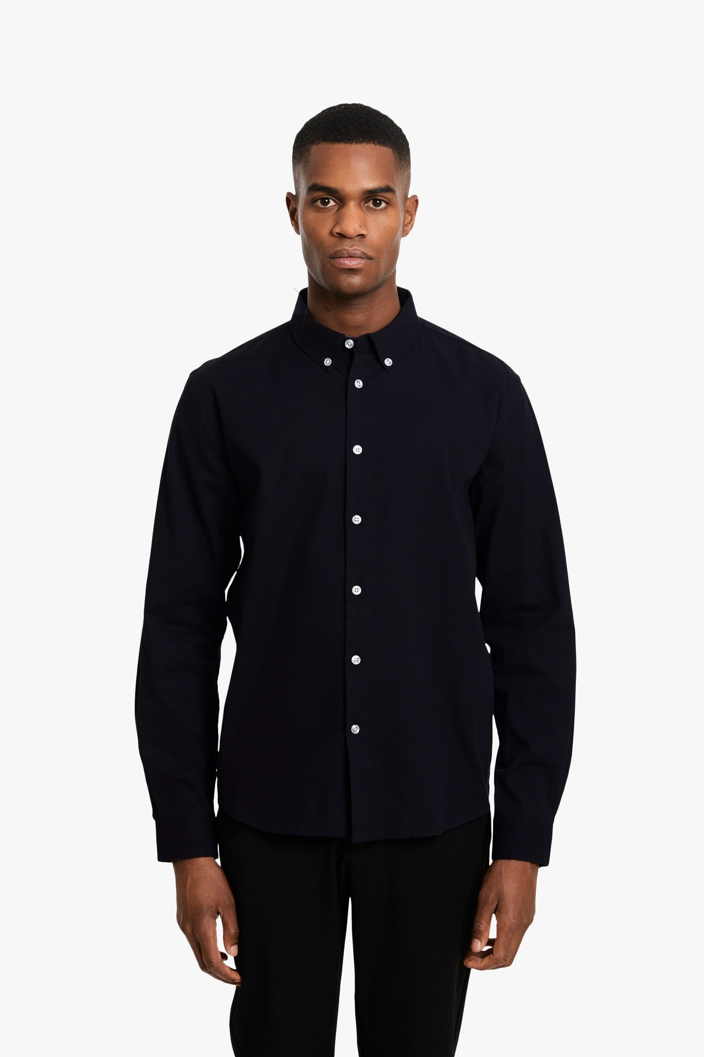 Woodbird Trime L/S Shirt Shirts Black