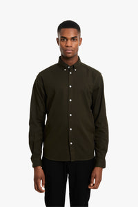 Woodbird Trime L/S Shirt Shirts Green