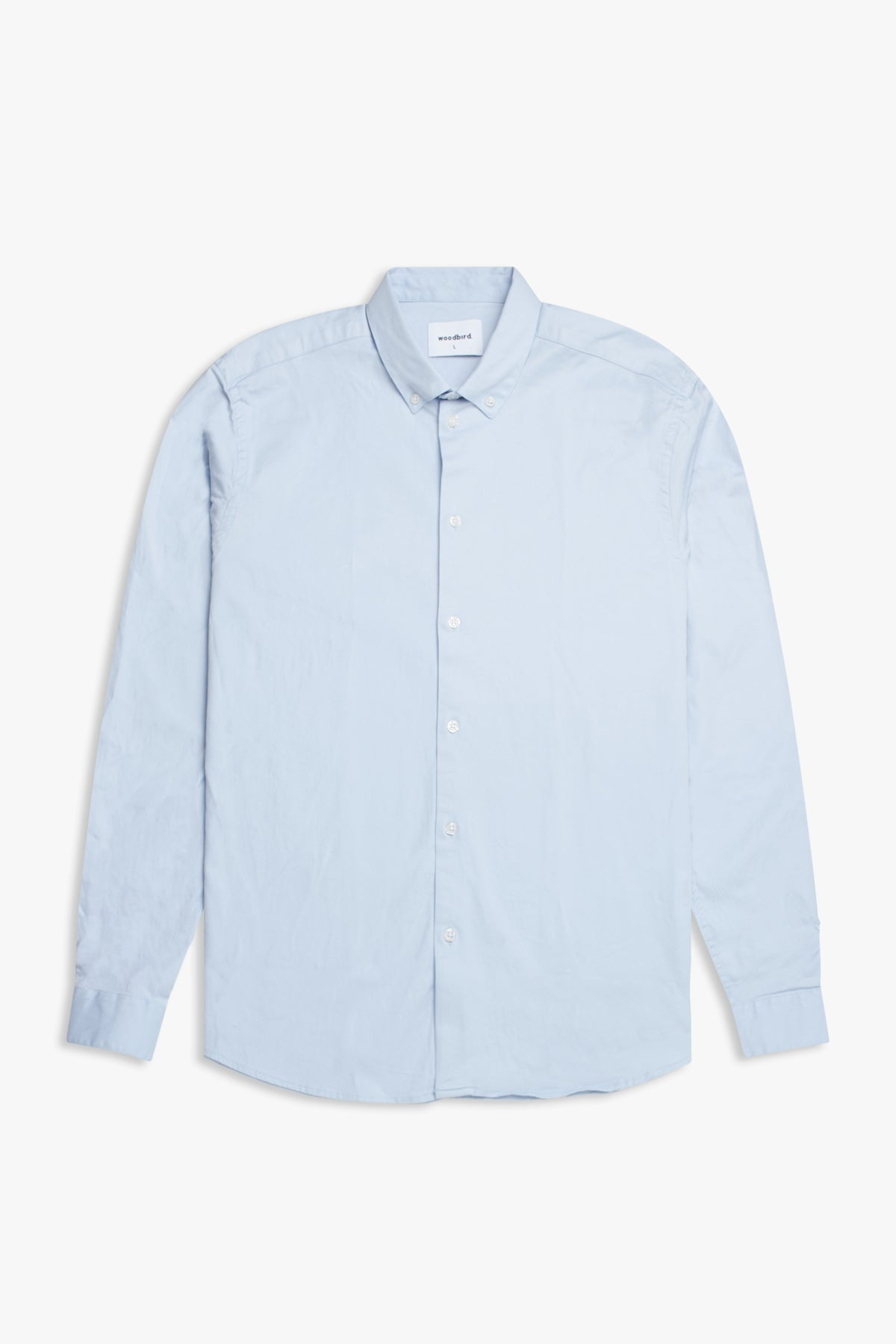 Woodbird Trime L/S Shirt Shirts Light Blue