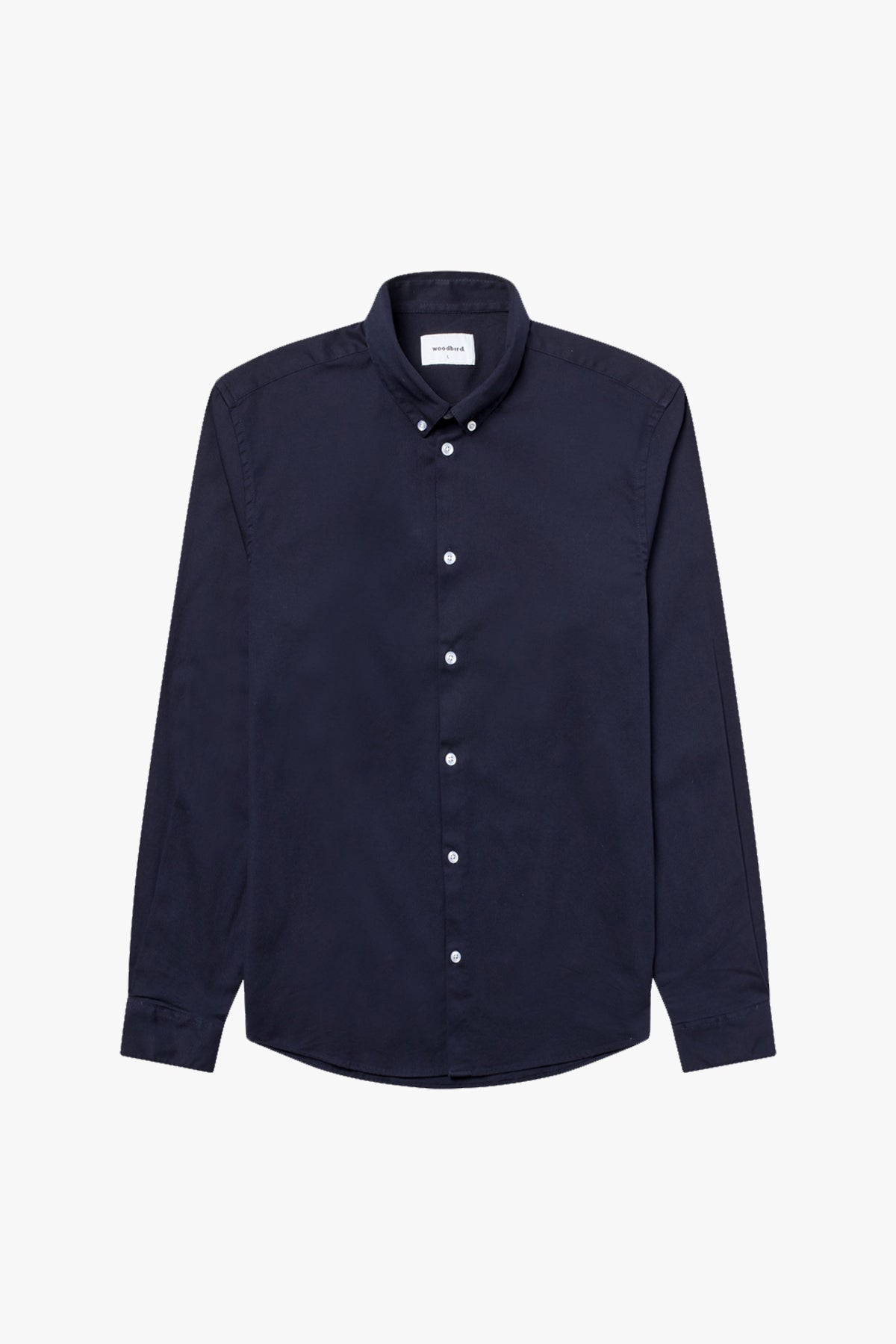 Woodbird Trime L/S Shirt Shirts Navy