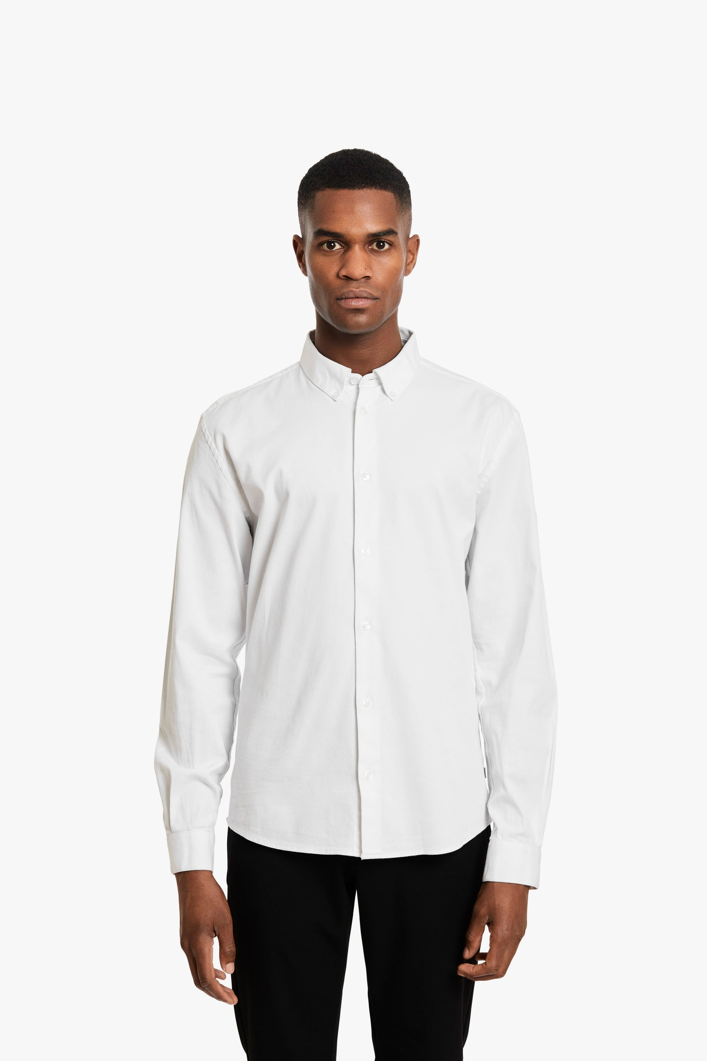 Woodbird Trime L/S Shirt Shirts White