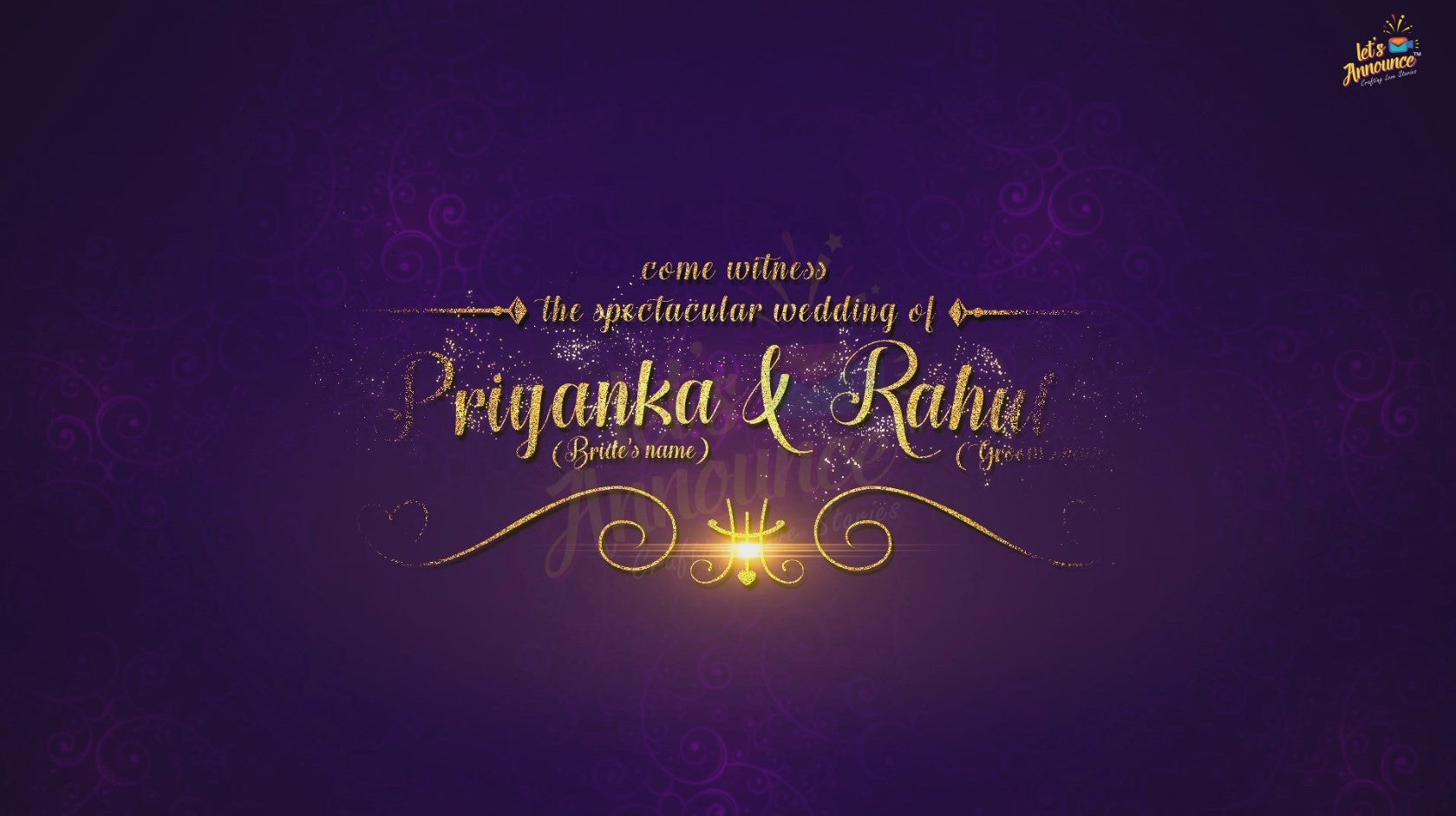 Royal Wedding Invite-68 sec(USD 75$)