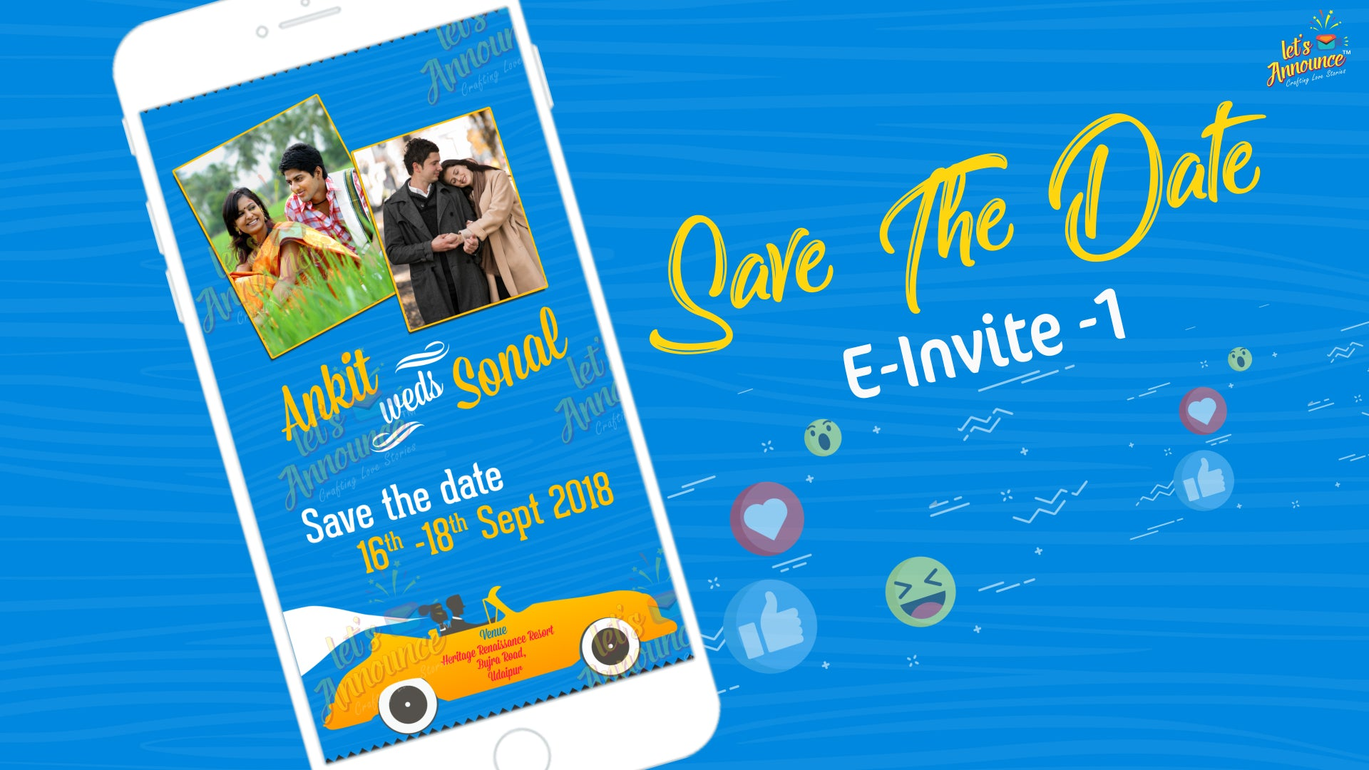 Wedding Journey E-Invite (USD 50$)