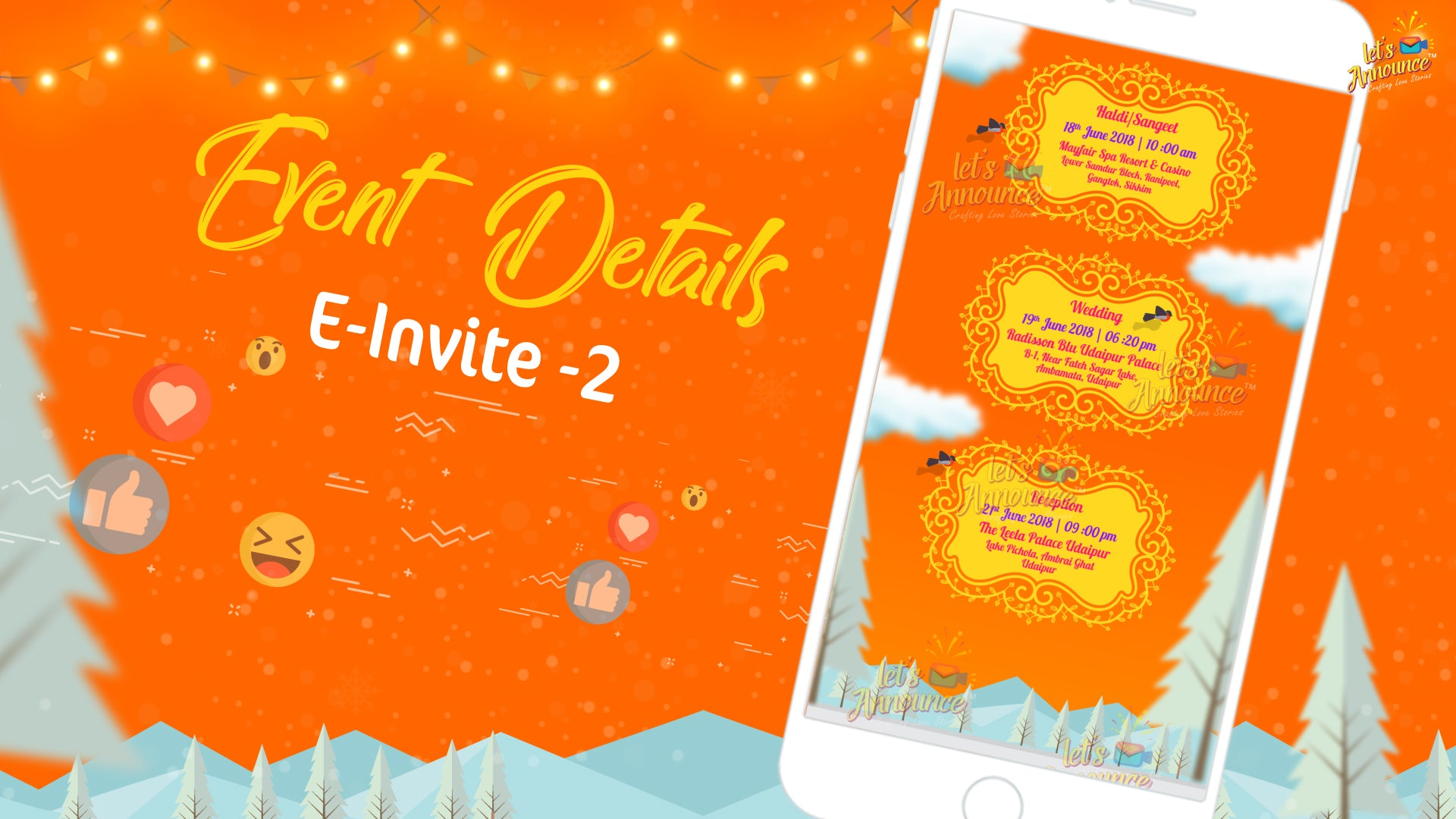 Fairy Tale Wedding E-invite (USD 50$)