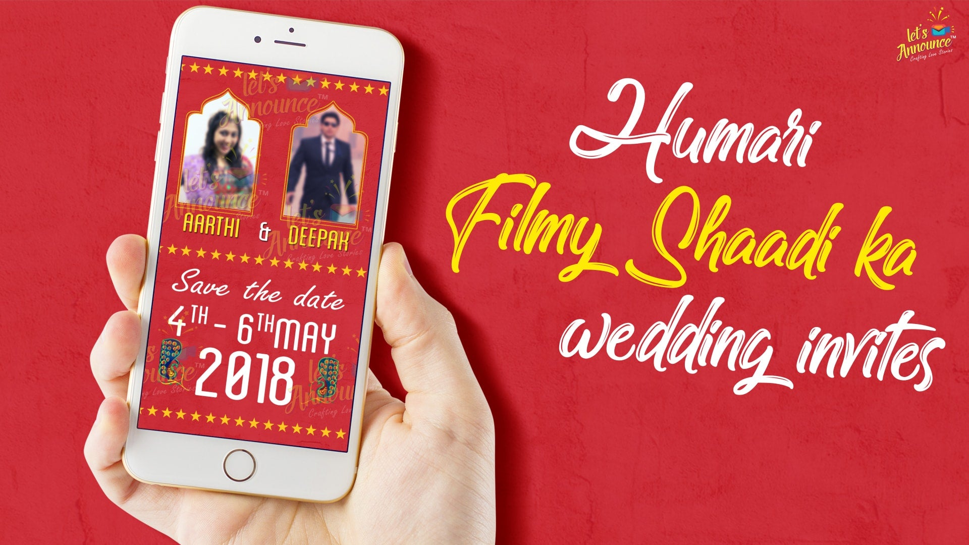Filmy Wedding E-Invite (USD 50$) - Letsannounce