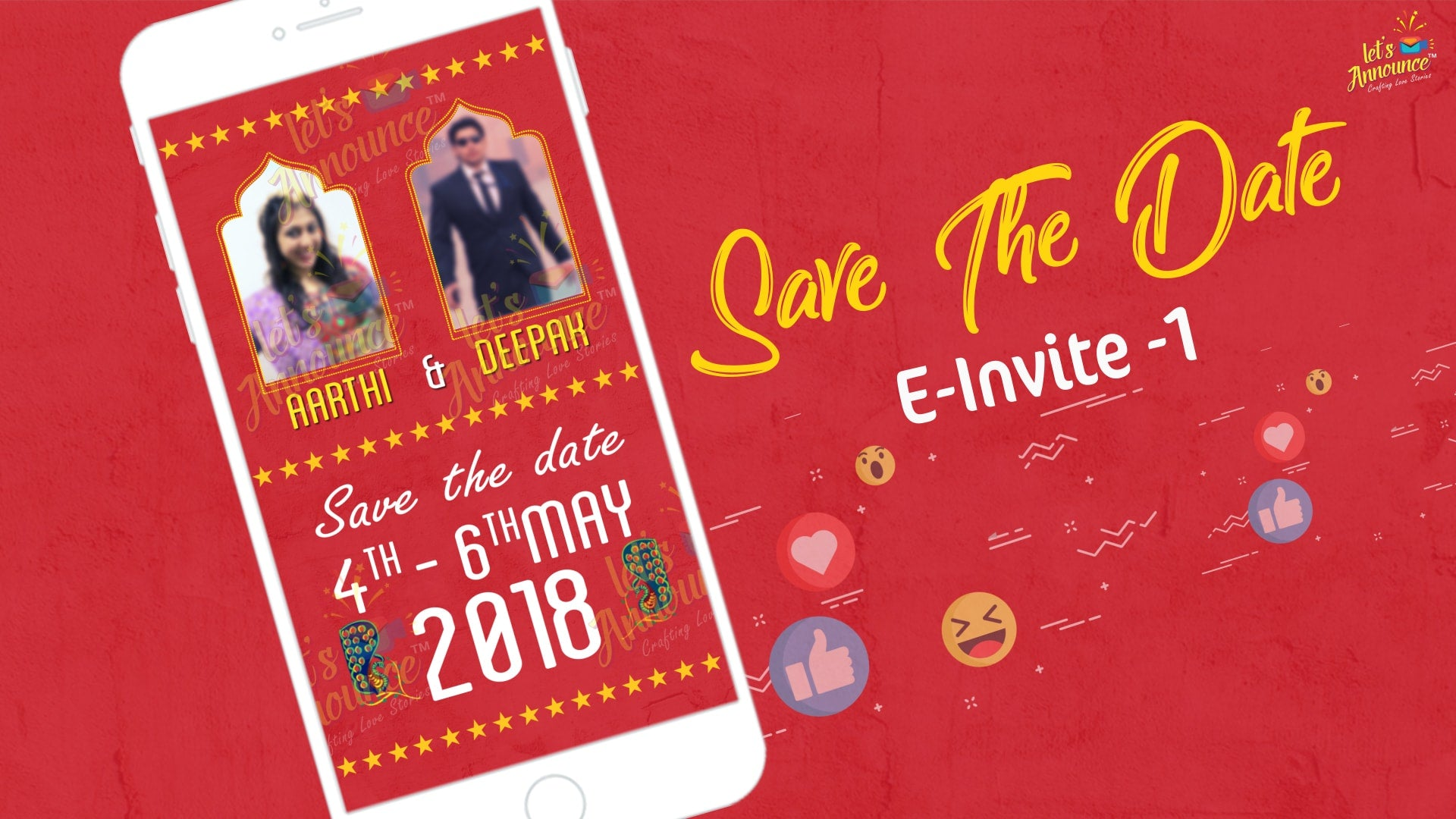 Filmy Wedding E-Invite (USD 50$)