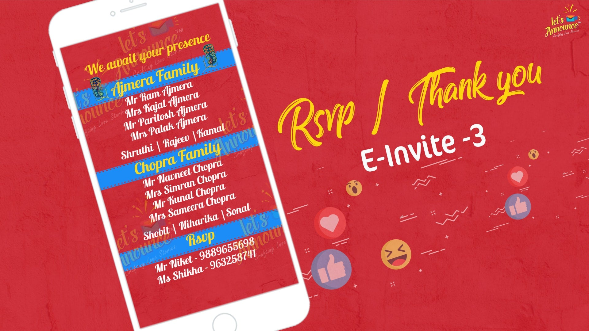 Filmy Wedding E Invite Usd 50 Letsannounce