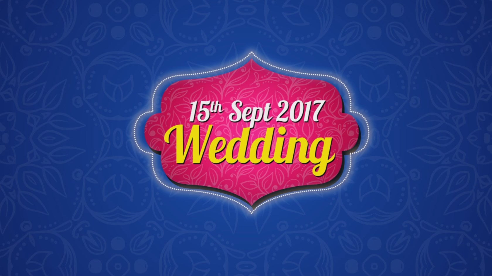 Grand Wedding Invite-38 sec(USD 99$)