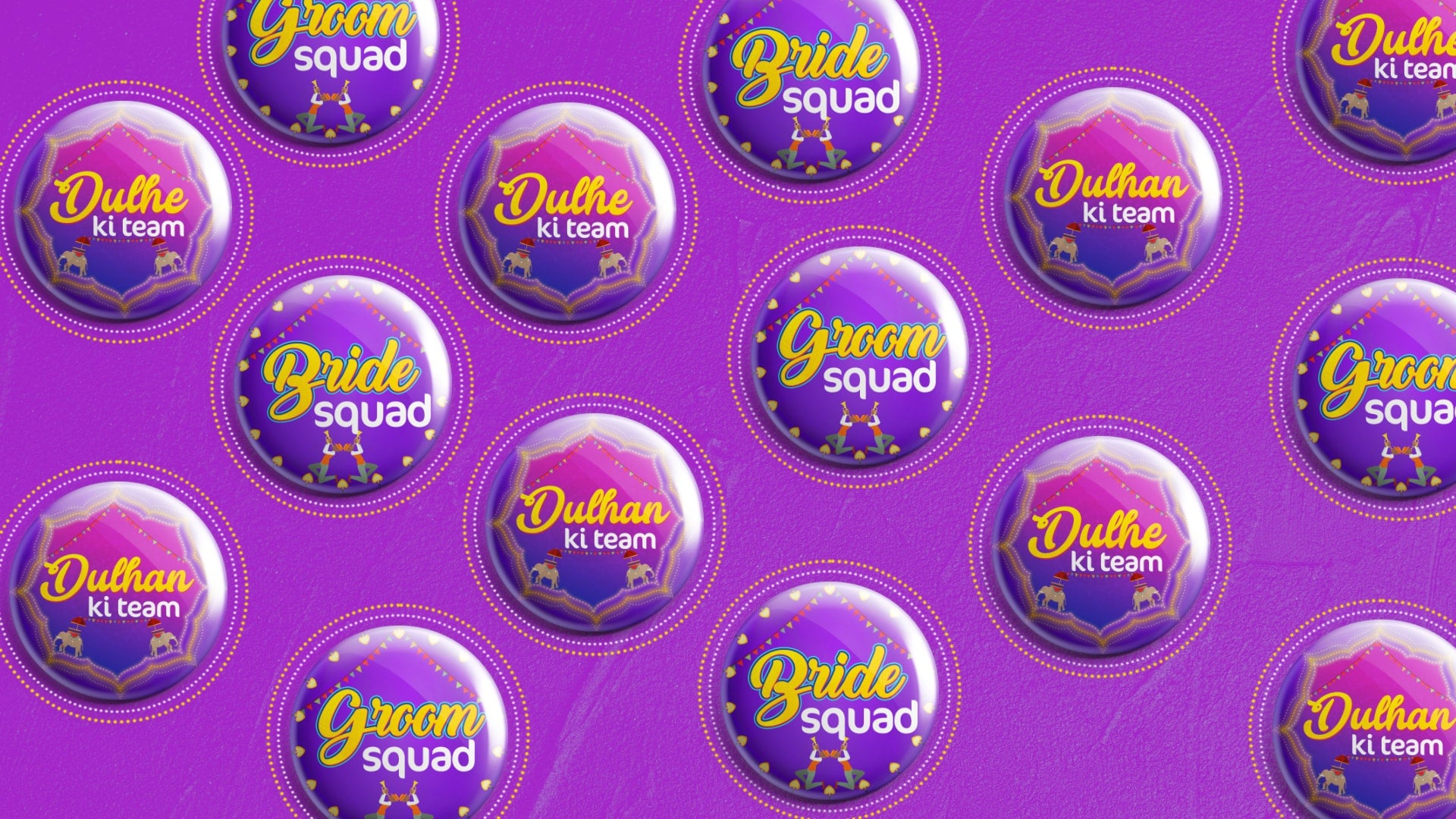 Grand Wedding 2.0 Badges
