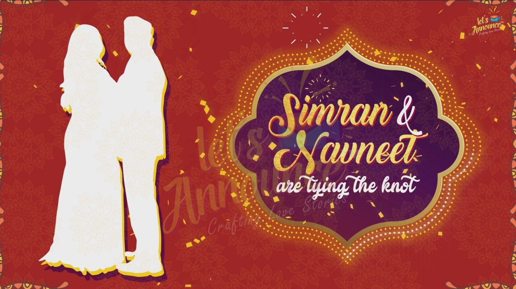 Indian Wedding and Sangeet Invitation-44 sec(USD 85$) - Letsannounce