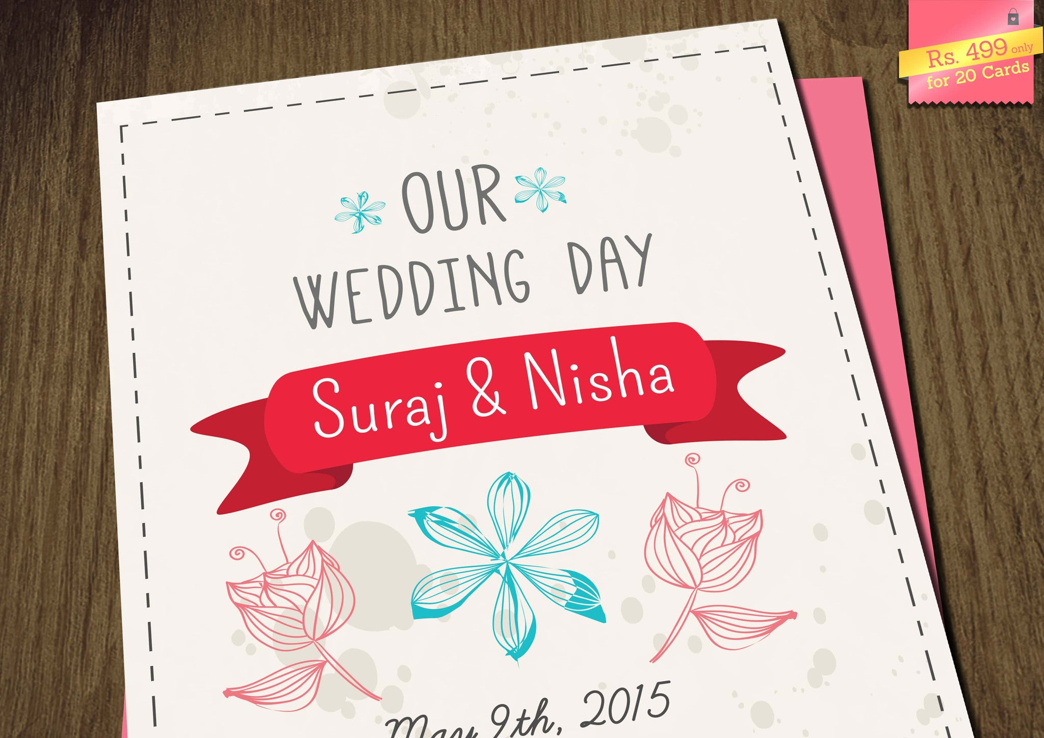 A Class Apart Print Wedding Invitation Card - Letsannounce