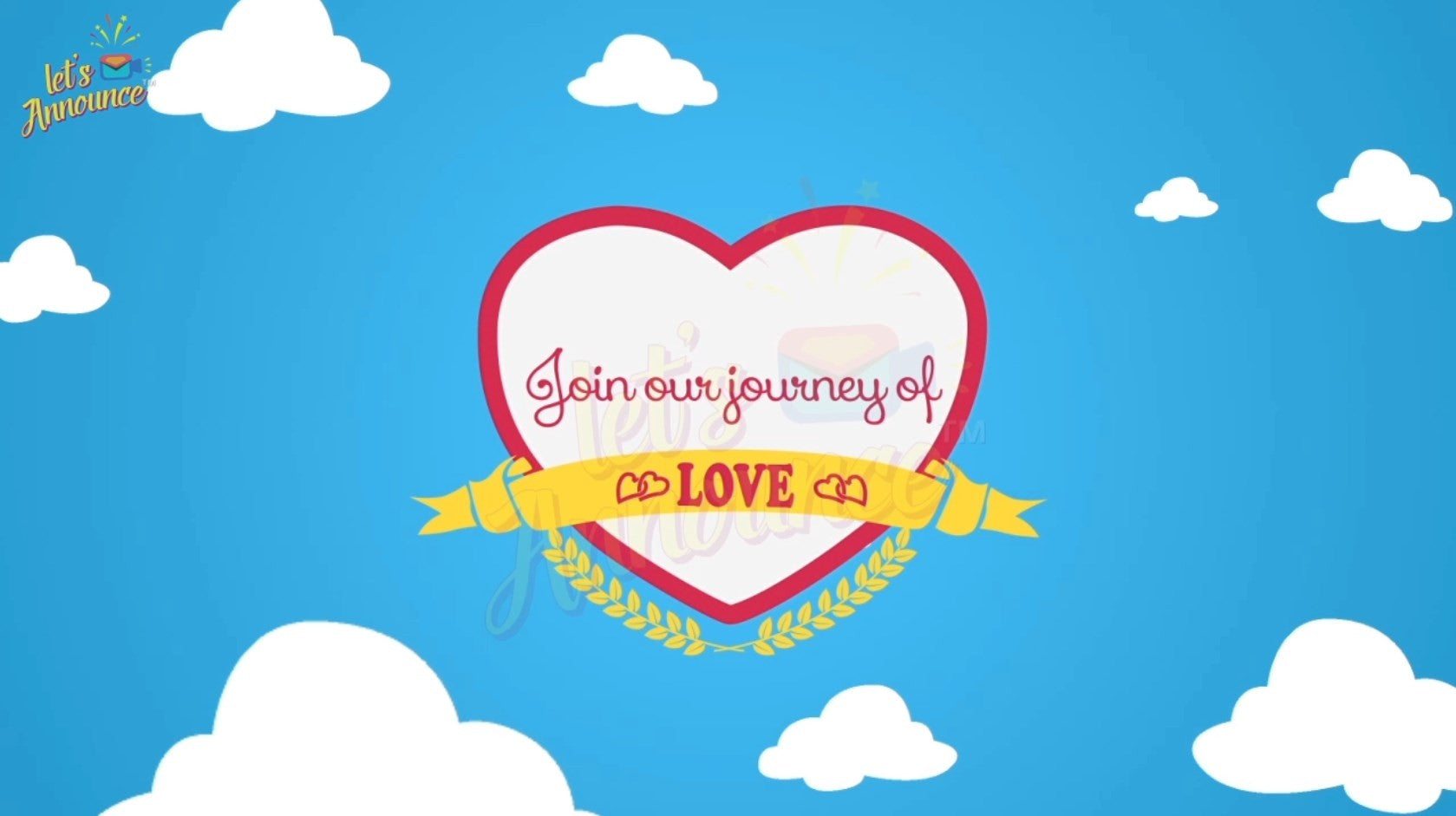 Journey of Love Invite-20 sec (USD 30$)