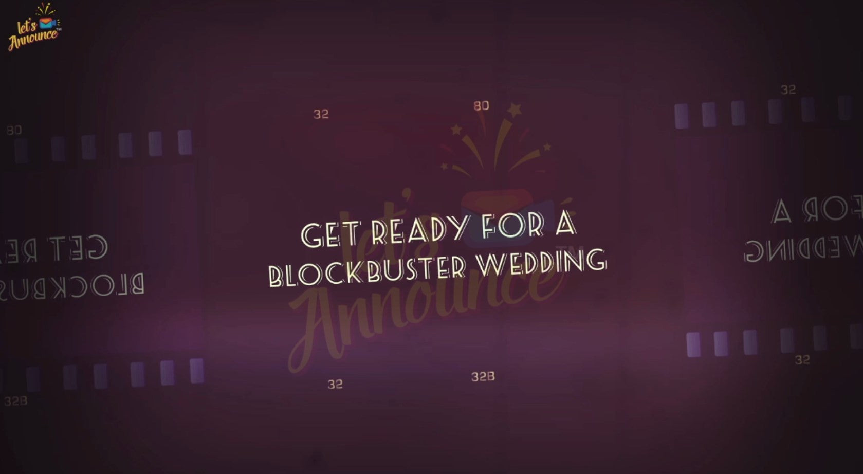 Blockbuster Wedding Invite - 30 sec (USD 35$)