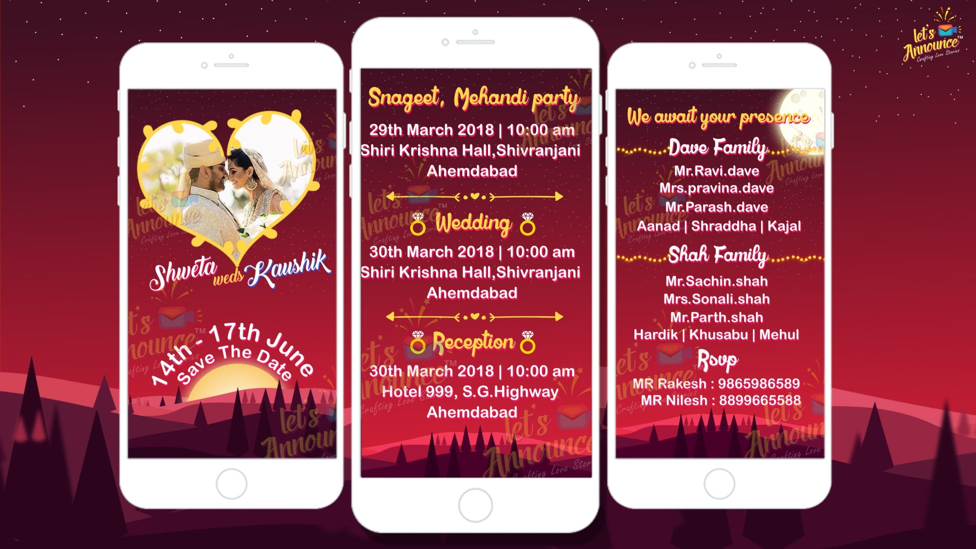 Romantic Wedding Einvite (USD 50$)