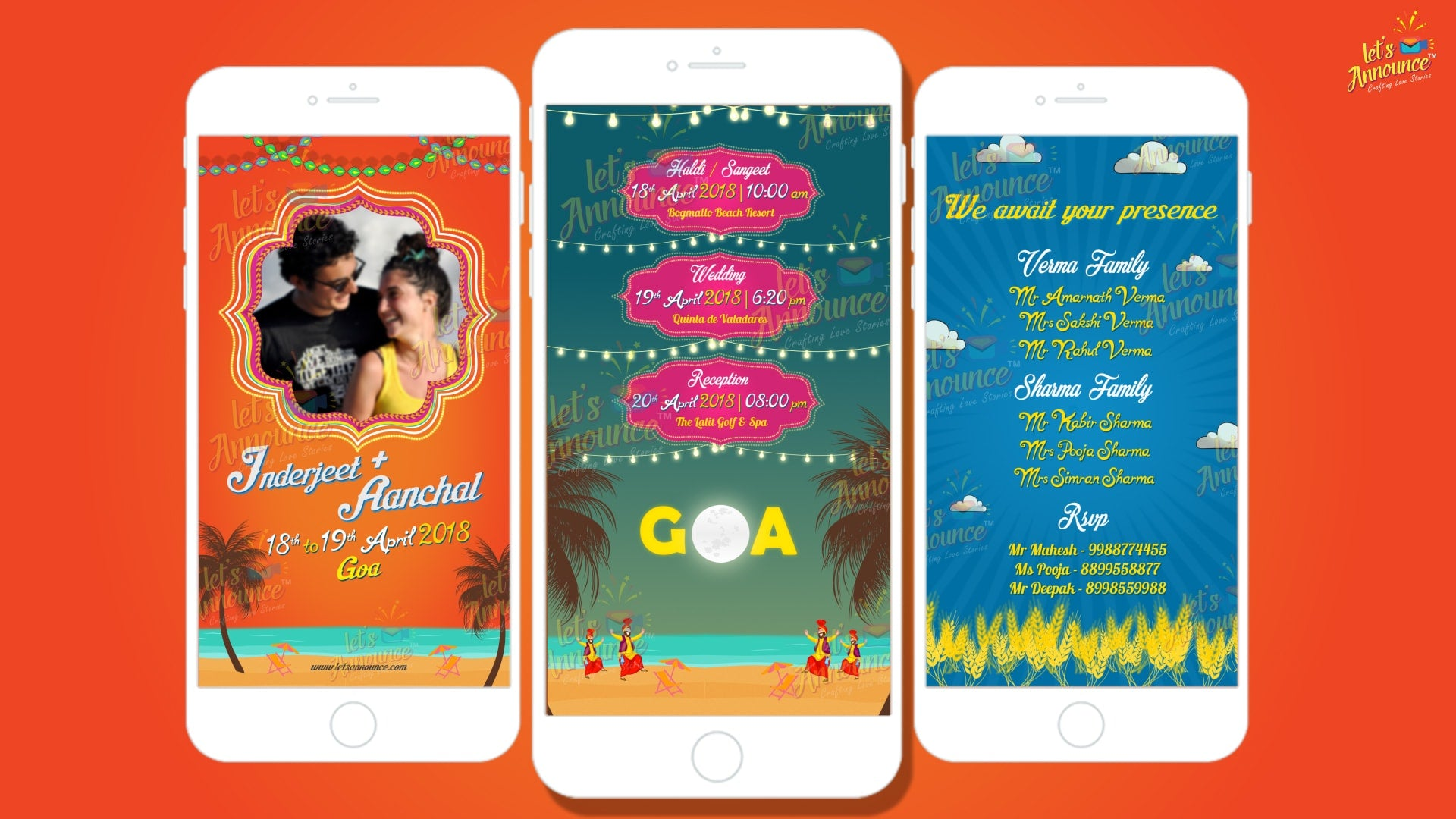 Punjabi Beach Wedding Invite (USD 50$)