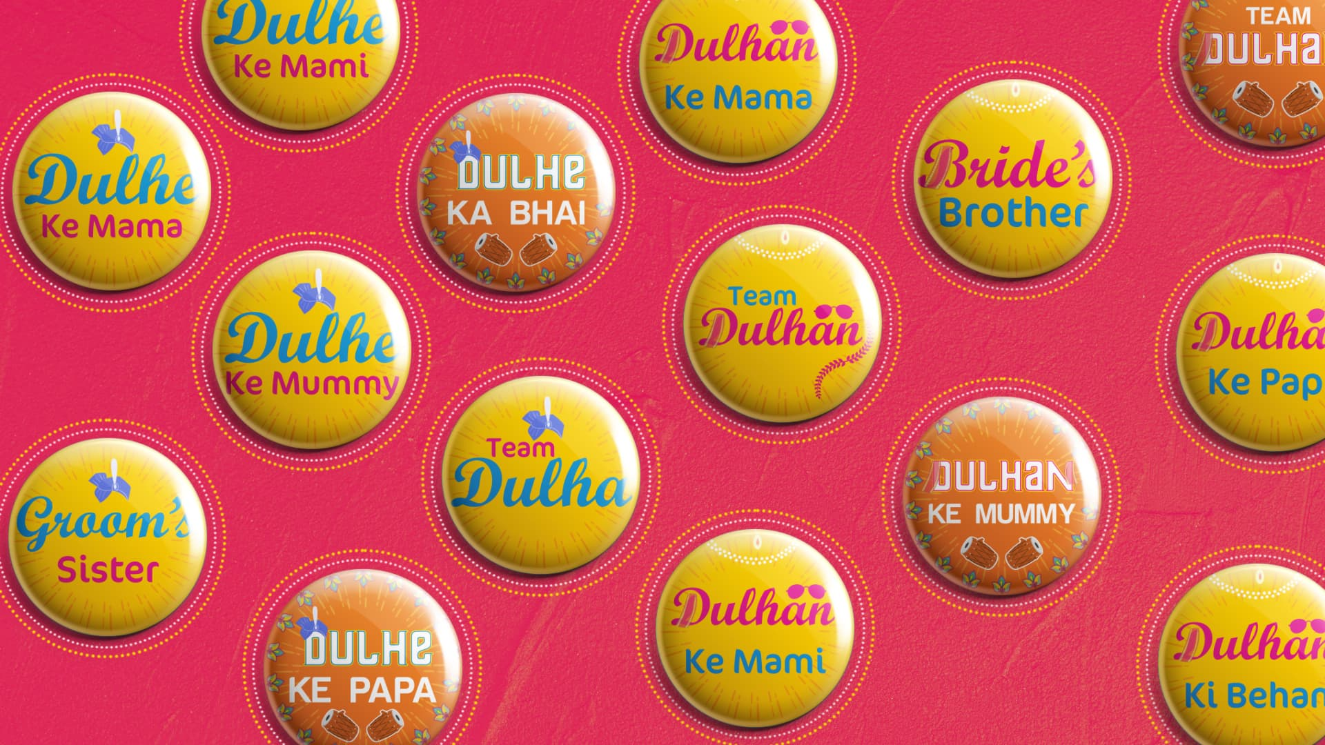 Punjabi Wedding Badges