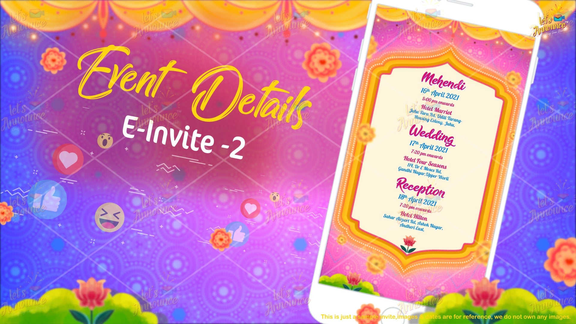 Quirky 2.0 Wedding EInvite (USD 50$)