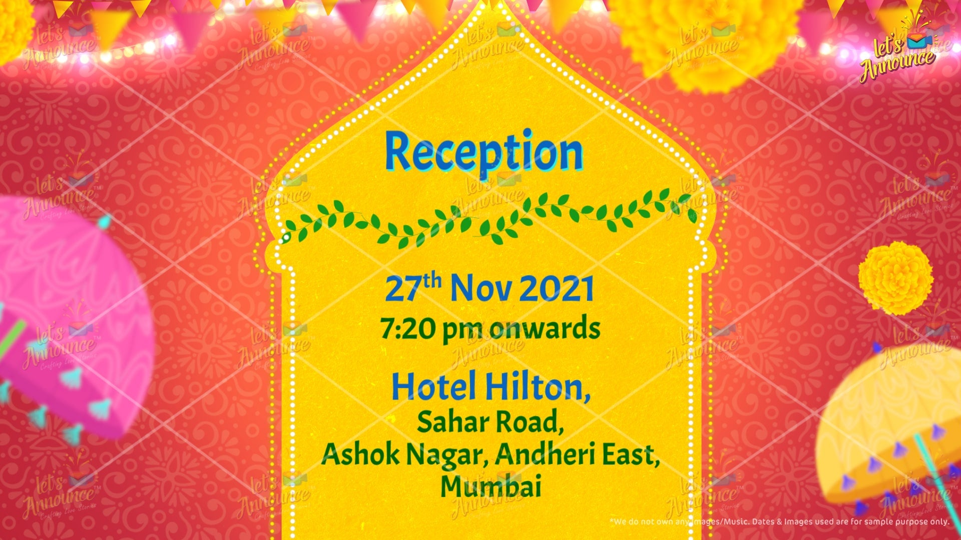 Reception Wedding Invitation by www.letsannounc.com