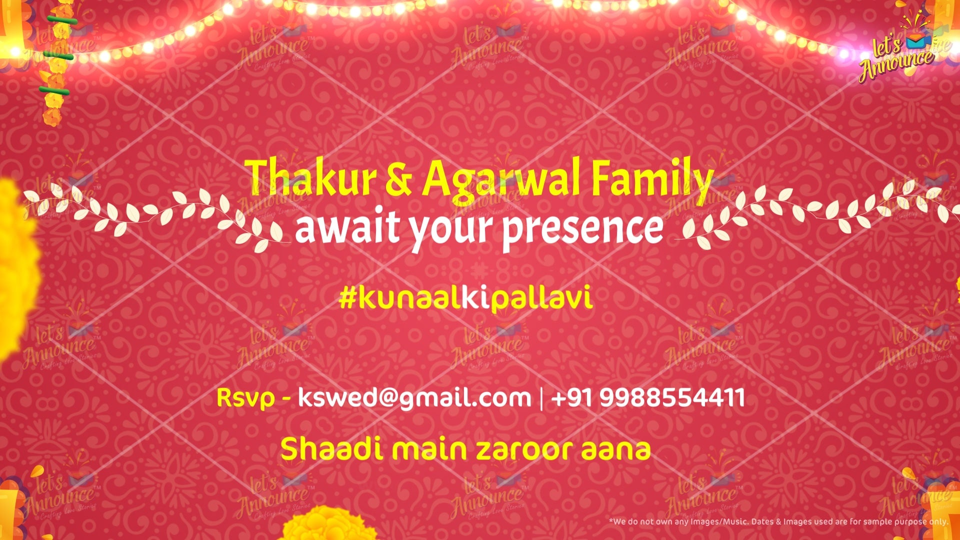 Marwadi punjabi bengali southindian Gujrati Hindu Muslim christian wedding invitation