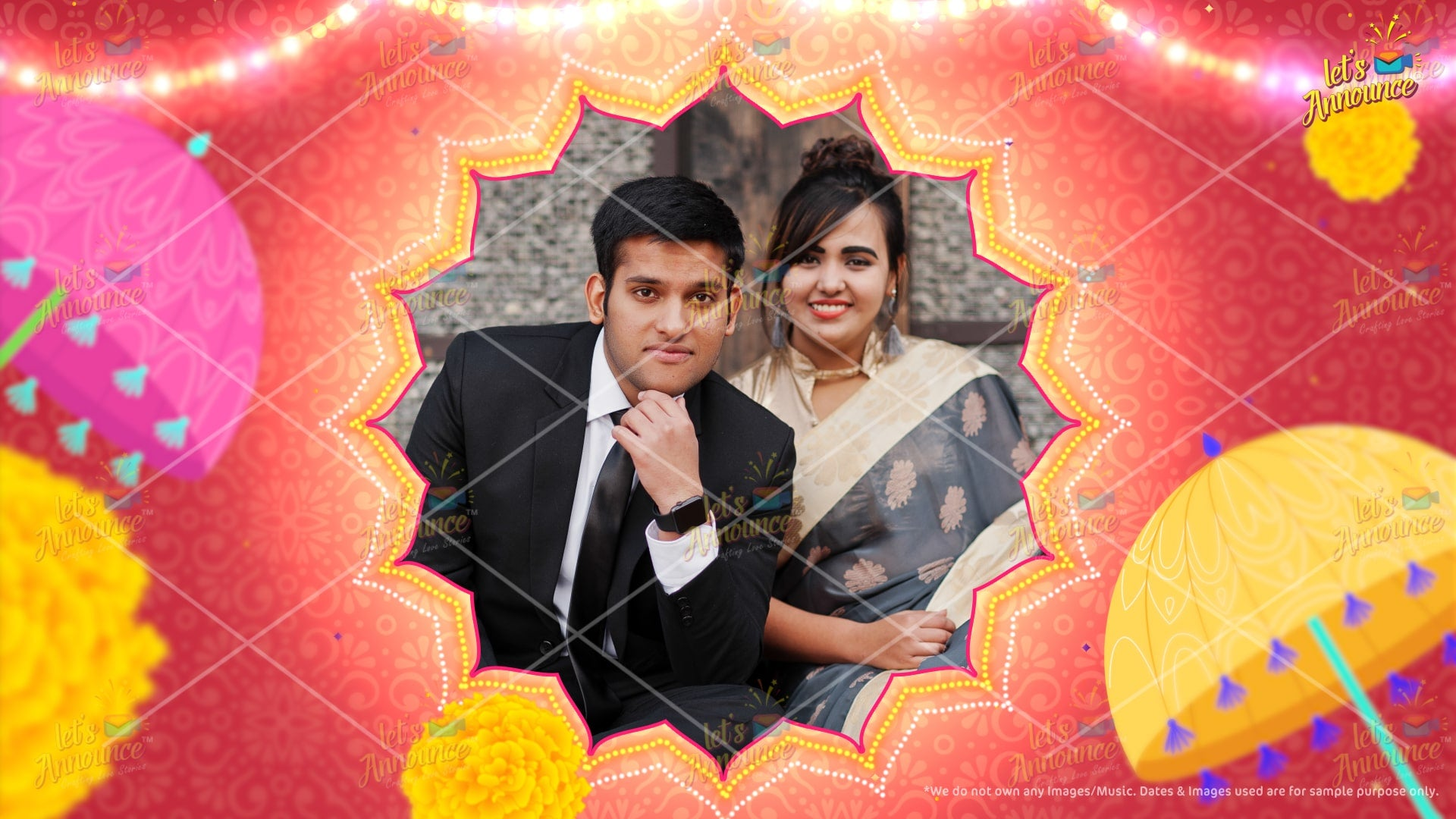 Indian Wedding Invitation by www.letsannounc.com