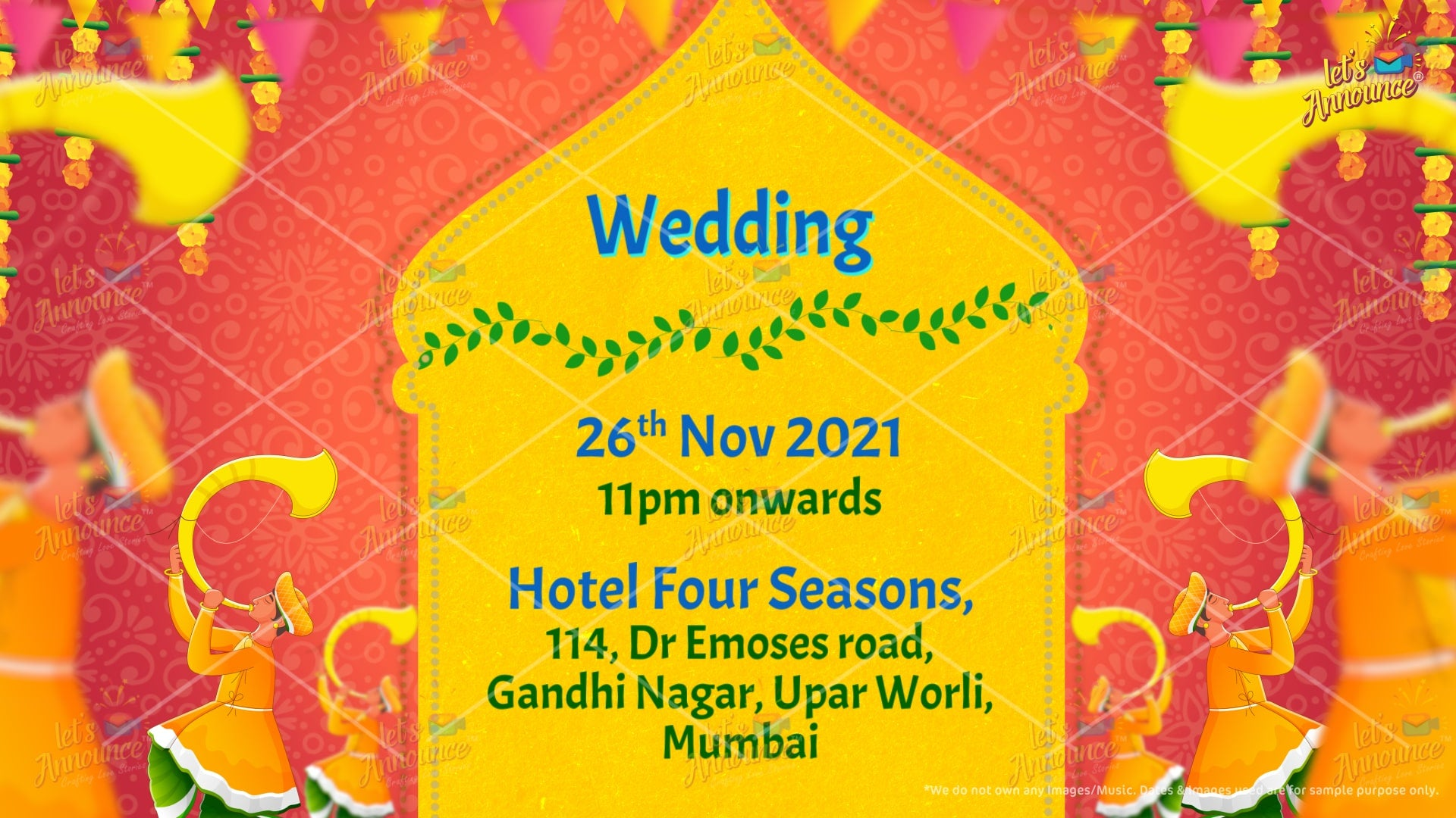 Best Wedding Invitation by www.letsannounc.com