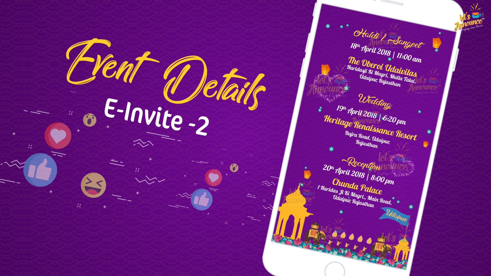 Majestic Wedding E-invite (USD 50$)