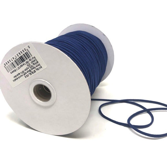 3mm Navy soft round elastic