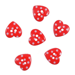 Trimits Dotty Hearts Buttons
