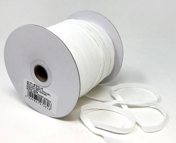 6mm White soft elastic