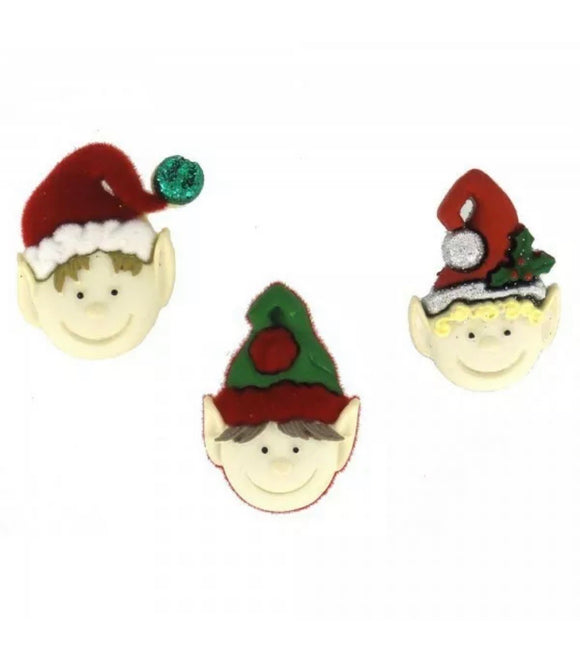 Holiday Elves Dress it up Buttons