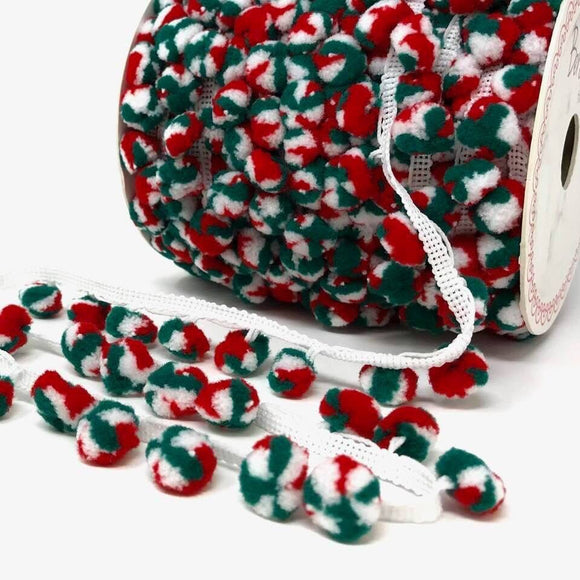 Bertie's Bows 15mm Christmas Pom Pom Trim