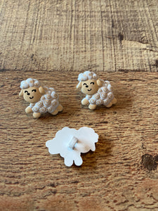 White Sheep Buttons
