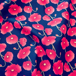 Poppies on Navy