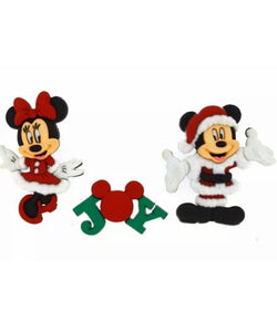 Mickey & Minnie Christmas Dress it up Buttons