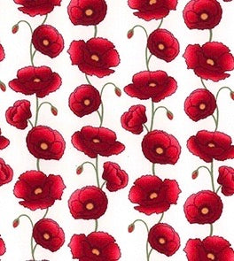 Poppies on Ivory