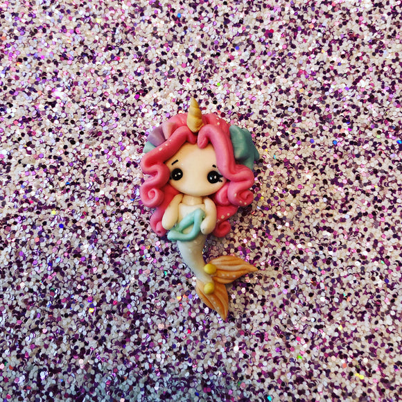 Pink Hair Unicorn Mermaid