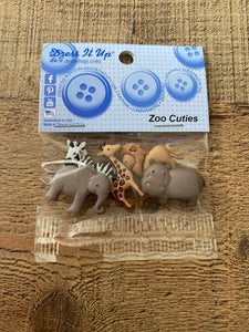 Zoo Cuties Dress it up Buttons