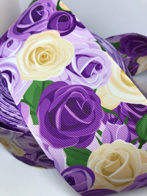 Purple & Cream Roses