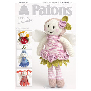 Patons Flower Fairy Doll Knitting Pattern