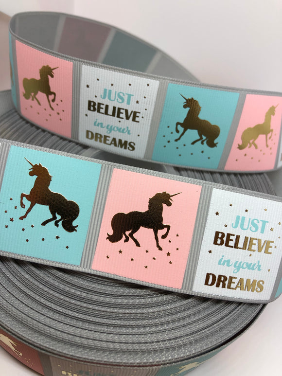 Just Believe Unicorn Ribbon
