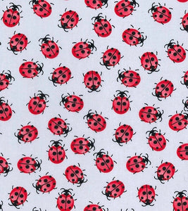 Ladybirds on Silver
