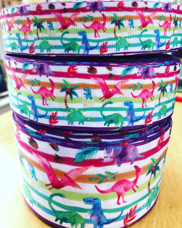 Rainbow Dinosaur Ribbon