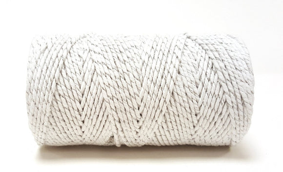 Bakers Twine - White & Silver