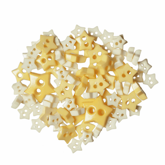 Trimits Mini Craft Buttons - Stars - Yellow